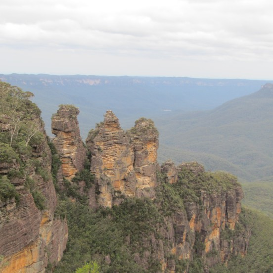 The Three Sisters rock formation